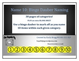 Name 10: Bingo Dauber Expressive Naming/Categories Activity