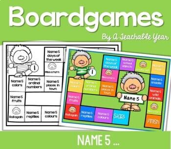 Name 5! Board Game