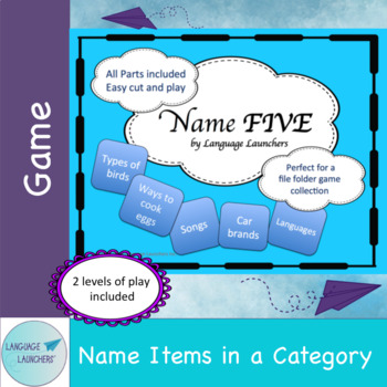 Name 5 Category Game