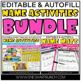 Name Activities Bundle {Editable}