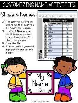 Name Activities EDITABLE
