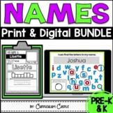 Name Activities EDITABLE Print & Digital BUNDLE