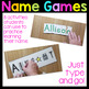 Name Activities Editable Name Games