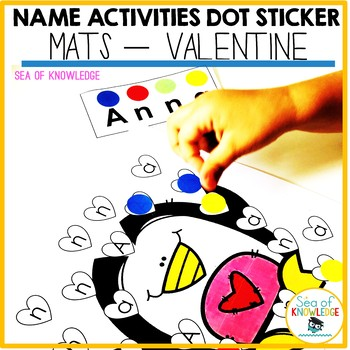 Name Activities Editable - Valentine Letter Search and Stick (Fine Motor)