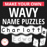 Name Activities | Editable Wavy Name Puzzles for Preschool & Pre-k