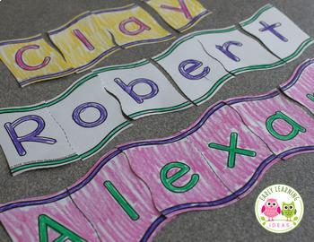 Name Activities | Editable Wavy Name Puzzles for Preschool & Pre-k