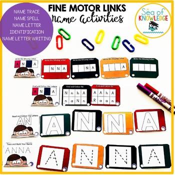 Name Activities Fine Motor Links Preschool Kindergarten