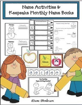 Name Activities & Keepsake Monthly Name Booklets