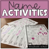 Name Activities and Worksheets {Language, Math and Arts}