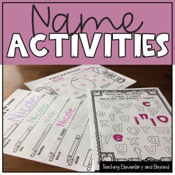 Name Activities {Language, Math & Arts}