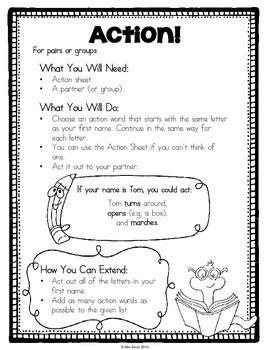 Name Activities (Literacy & Math) Get to Know You