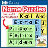 Name Activities | Name Practice Editable Puzzles