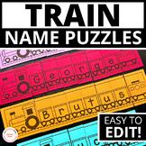 Transportation Theme Name Activities  | Name Practice Edit