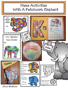 Name Activities With A Patchwork Elephant