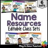 Name Activities Bundle - Editable