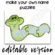 Name Activities for kids - Name Puzzles EDITABLE