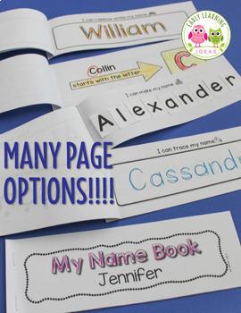 Name Activity Bundle:  Name Practice Activities for Preschool and Kindergarten