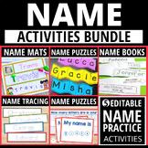 Name Activities Bundle   Name Practice Activities for Preschool and Kindergarten