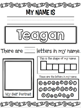 Name Activity Editable Freebie {Perfect for Back to School}