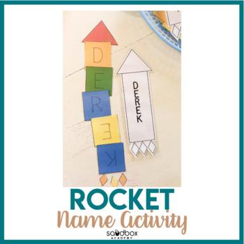 Name Activity Rocket - Space Preschool Activity