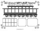 Name Activity Sheets - Bus & Train