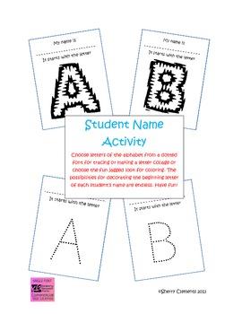 Name Activity (for beginning letter)