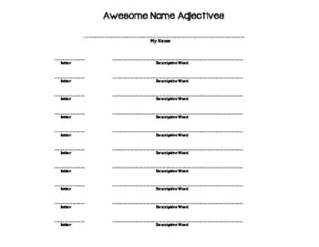 Name Adjectives