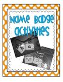 Name Badge Activities FREEBIE