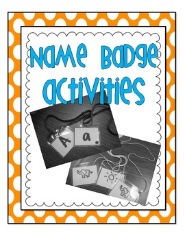 Name Badge Activities FREEBIE