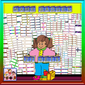 Name Badges 77 different ones @ 10 per page -totaling 770