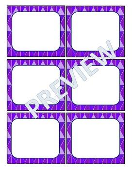 Name Badges-Geometric Shapes