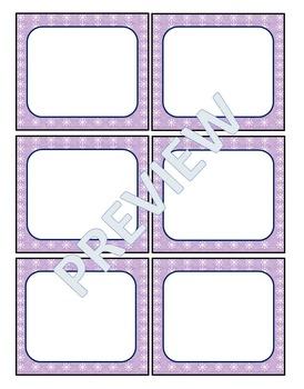 Name Badges-Snowflakes