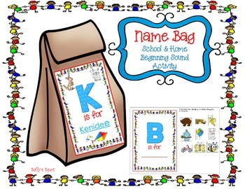 Name Bag - A Back to School Beginning Sound Activity