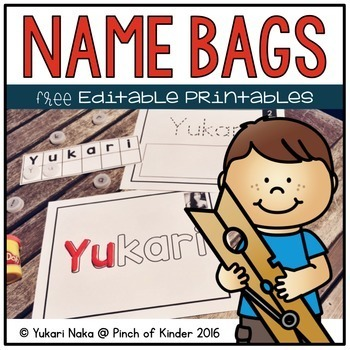 Name Bags: Free Editable Printables
