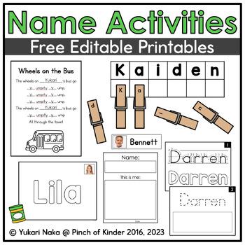 Name Bags: Free Editable Printables