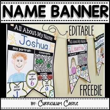 "Name Activities: EDITABLE ""All About My Name"" {FREEBIE}!"
