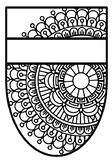 Name Banner, Pattern Coloring Pennant, Mandala Style, Set 29, Classroom Decor