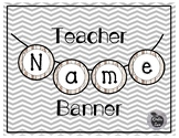 Name Banner Wood