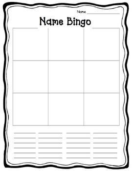 Name Bingo - EDITABLE