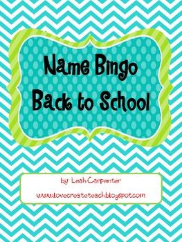 Name Bingo Editable
