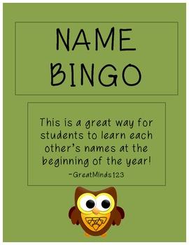 Name Bingo - Free Sample