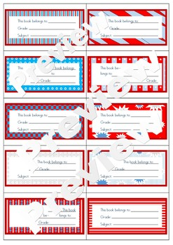 Seuss like Name Book Tags Labels