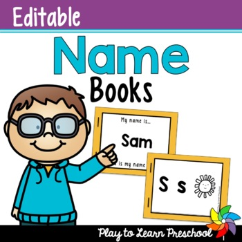 Easy do it yourself name activities for preschoolers the tpt blog name books editable solutioingenieria Images