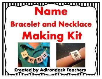 Name Bracelet and Necklace Making Kit