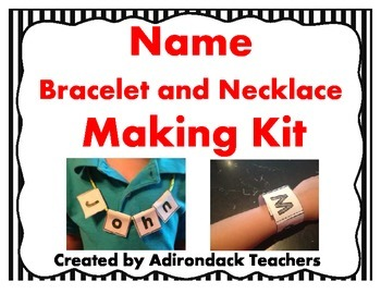 Name Bracelet and Necklace Making Kit