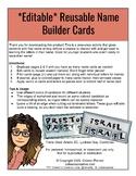 Name Builder Cards *Freebie*