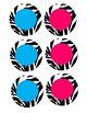 Name Cards Blue or Pink Zebra
