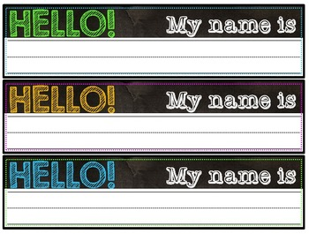 Name Cards {Chalkboard & Brights}