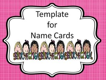 Name Cards-Editable
