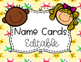 Name Cards - Editable